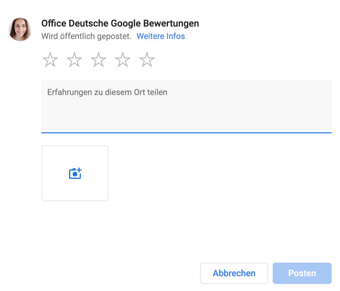 Google Bewertung schreiben